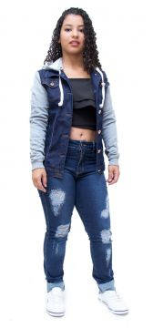 Jaqueta Jeans Credencial Jenipher Azul Credencial