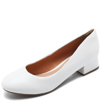 Scarpin DAFITI SHOES Liso Branco DAFITI SHOES