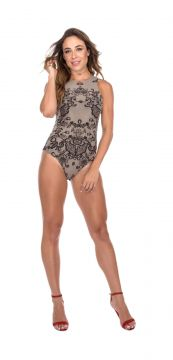 Body Flavia Donadio Beachwear Preto Flavia Donadio Beachwea