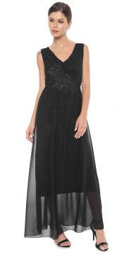 Vestido D.DRESS Longo Renda Preto D.DRESS