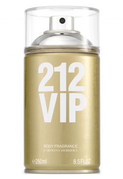 Body Spray Perfume 212 VIP 250ml Carolina Herrera