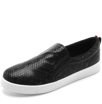 Slip On Bebecê Cobra Preto Bebecê