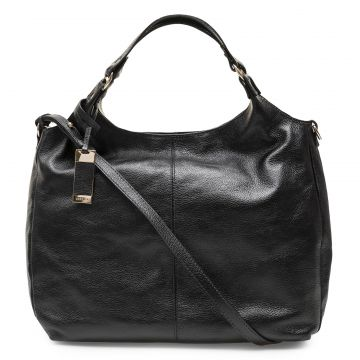 Bolsa Corello Shoulder Bag Hobo Mila Couro Preto Corello