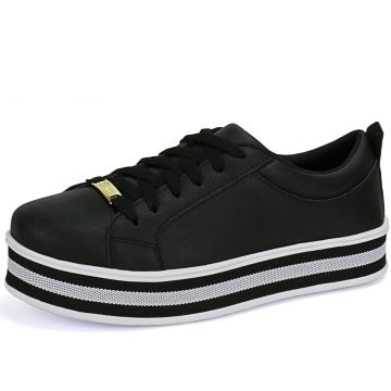 Tênis Sapatênis CR Shoes Listrado Preto CR Shoes
