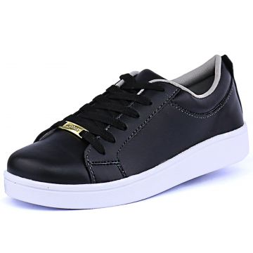 Tênis Sapatênis Casual Cr Shoes Metalizado Preto CR Shoes