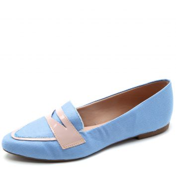 Mocassim DAFITI SHOES Liso Azul DAFITI SHOES
