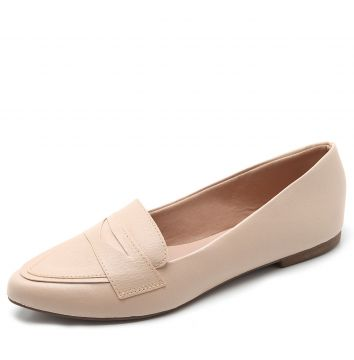 Mocassim DAFITI SHOES Liso Nude DAFITI SHOES