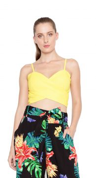 94783bcfae Top Lucy In The Sky Cropped Amarelo Lucy in The Sky