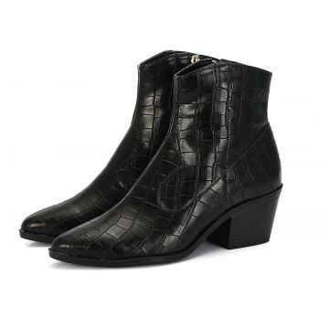 Bota Country Connect Shoes Croco Preto Connect Shoes