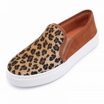 Slip On CRISTAISHOES Onça/Bege CRISTAISHOES