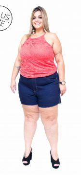 Short Jeans Cambos Plus Size Liara Azul Cambos