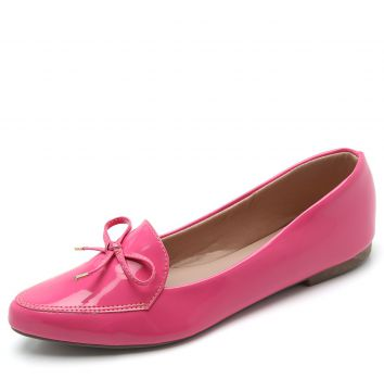 Mocassim DAFITI SHOES Laço Rosa DAFITI SHOES