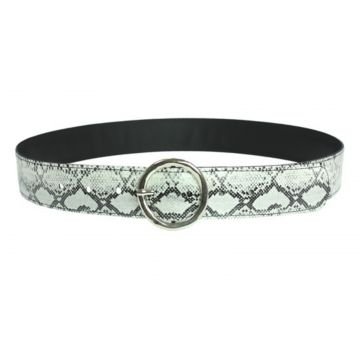 Cinto Higher Snake Belt Prata Sintetico Higher