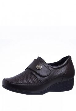 Sapato Anabela Doctor Shoes 3145 Marrom Escuro Doctor Shoes