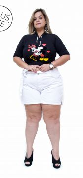 Short Jeans Cambos Plus Size Riana Branco Cambos