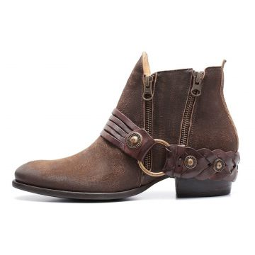 Bota Boho Charlotte Look Timber Couro Whisky CHARLOTTE LOOK