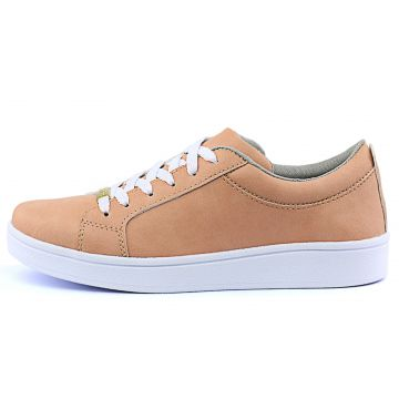 4b434f25f1 Tênis Sapatênis Casual Cr Shoes Metalizado Nude CR Shoes