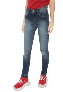 Calça Jeans Be Red Skinny Destroyed Azul Be Red