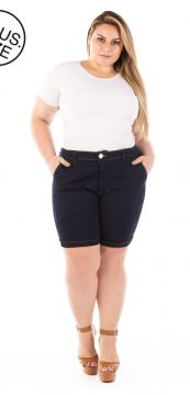 Short Jeans Lucky Blue Plus Size Plus Size - Confidencial
