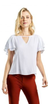 4f0d47b9d5 Blusa MX Fashion Viscose Ianna Off White MX Fashion
