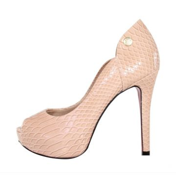 a4400999f4 Peep Toe Meia Pata Week Shoes Excalibur Nude Week shoes