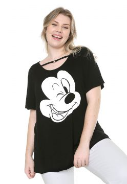 Blusa Cativa Disney Plus Mickey Preta Cativa Disney Plus
