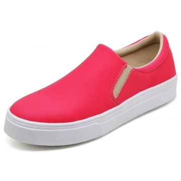 Tênis Casual Slip On BELLATRIX Neon Rosa BELLATRIX