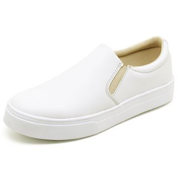 Tênis Casual Slip On BELLATRIX Branco BELLATRIX