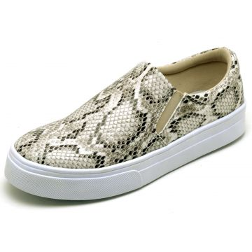 Tênis Casual Slip On Estampado BELLATRIX Gelo BELLATRIX