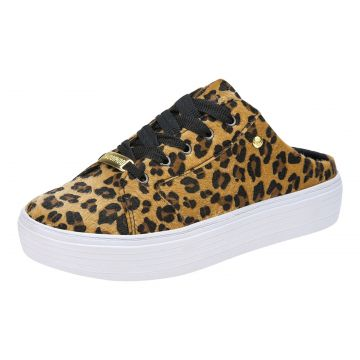 Tênis Domidona Mule Casual Animal Print 111.33.025 - Onça D