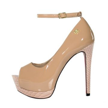 b150b0d539 Peep Toe Meia Pata Week Shoes Excalibur Nude Week shoes