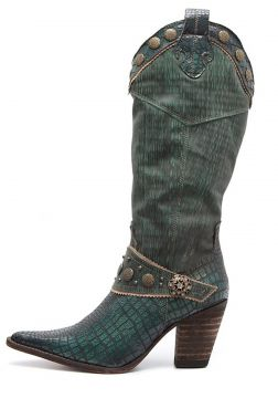 Bota Elite Country Tucson Clyde Couro Verde Elite Country