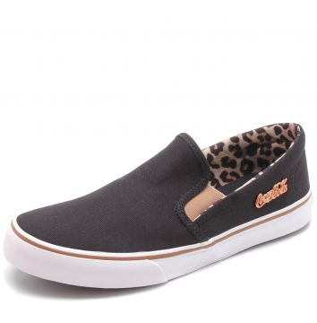 Slip On Coca Cola Iate Join Preto Coca Cola Shoes