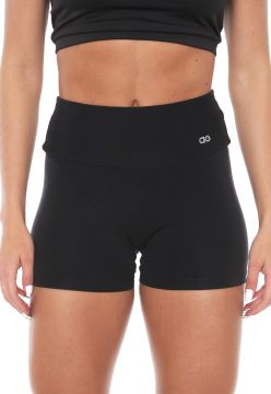 Short Alto Giro Supplex Termo Preto Alto Giro