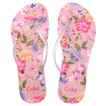 Chinelo Coca Cola Blooming Rosa Coca Cola Shoes