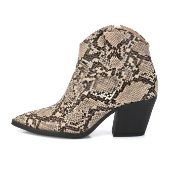 66fede4dd Bota Not-Me West Country Animal Print Cobra Bege Not-me