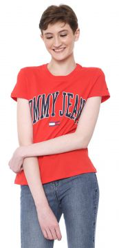 Blusa Tommy Jeans Lettering Vermelha Tommy Jeans