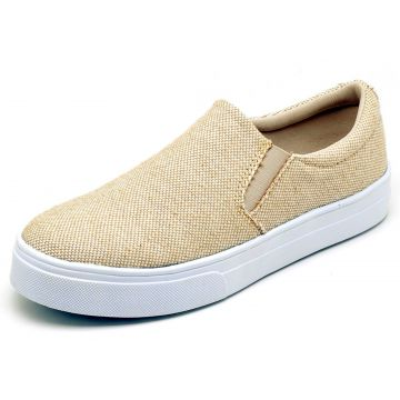 Tênis Casual Slip On BELLATRIX Natural BELLATRIX