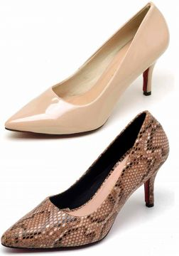 Kit 2 Pares Scarpin Casual Bellatrix Nude e Marrom BELLATRI