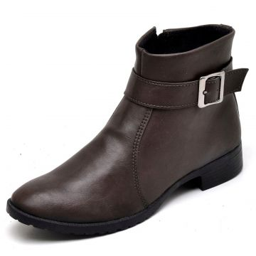 Bota Casual Cano Curto Bellatrix Café BELLATRIX