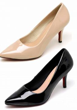Kit 2 Pares Scarpin Casual Bellatrix Nude e Preto BELLATRIX