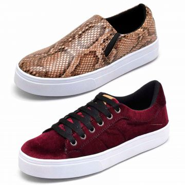 Kit Tênis Casual e Slip On BELLATRIX Multicolorido BELLATRI