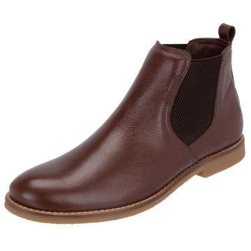 Botina Chelsea Boots Atron Shoes Original Couro Liso Floate
