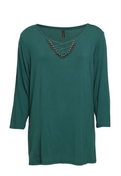 Blusa Cativa Plus Bordada Verde Cativa Plus