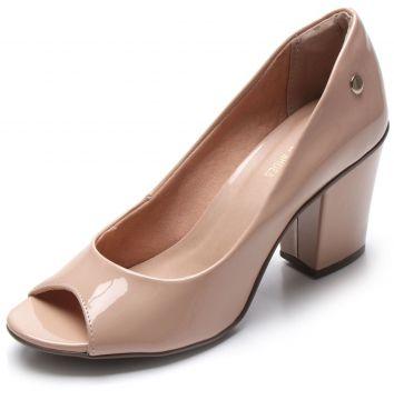 Peep Toe DAFITI SHOES Verniz Nude DAFITI SHOES