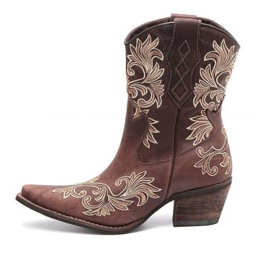 Bota Elite Country Tucson Abilene Couro Café Elite Country