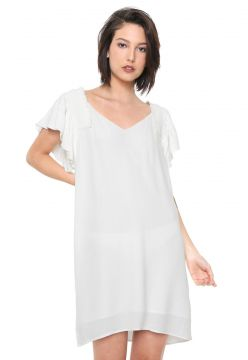 Vestido Forum Curto Drapeado Off-white Forum