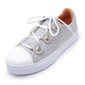 Tênis Casual Cristaishoes Cinza CRISTAISHOES