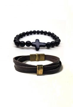 Pulseira Broers Borges mix Marrom Broers Borges
