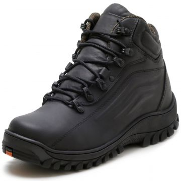 Bota Adventure Over Boots Biker Black Couro Preto Over Boot